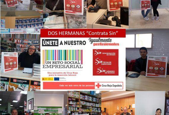 """Empresas de Dos Hermanas colaboran en la campaña """"CONTRATA SIN"""""""