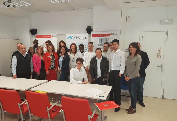 Colaboración de la empresa CLC World con el Plan de Empleo de Cruz Roja en Málaga